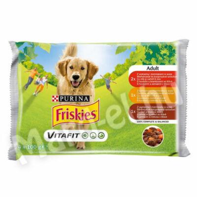Friskies alut. kutya marha-csirke-bárány zselében 4x100g