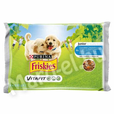 Friskies alut. kutya junior csirkével és sárgarépával szószban 4x100g