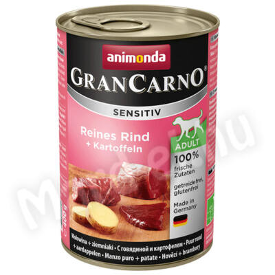 Animonda GranCarno sensitiv kutya ko. marha+burgonya 400g