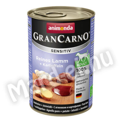 Animonda GranCarno sensitiv kutya ko. bárány+burgonya 400g