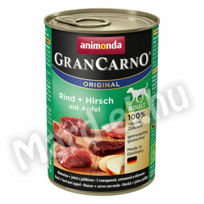Animonda GranCarno adult kutya ko. marha+szarvas almával  400g