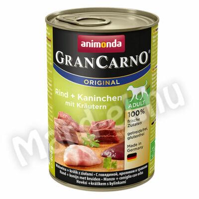 Animonda GranCarno adult kutya ko. marha+nyúl zöldfűszerekkel 400g