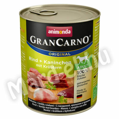 Animonda GranCarno adult kutya ko. marha+nyúl zöldfűszerekkel 800g