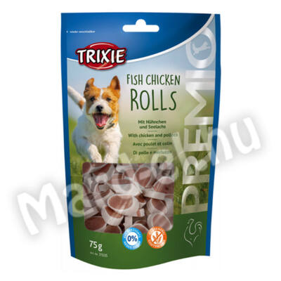 Trixie Premio Rolls jutalomfalat hal-csirke 75g 31535