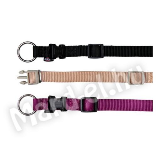 Trixie Nyakörv Premium XS-S 22-35cm/10mm fekete 20141