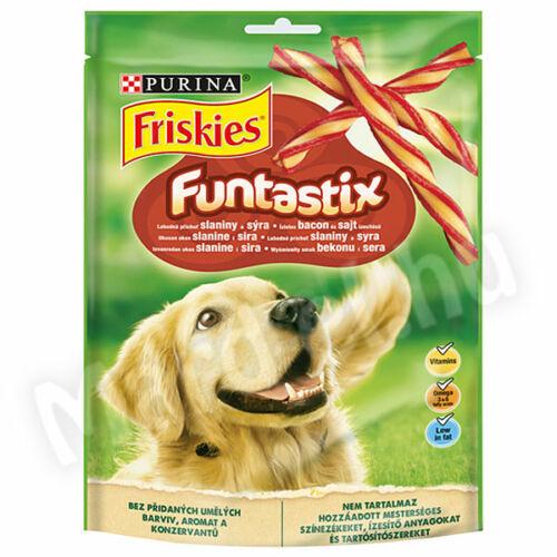 Friskies Funtastix bacon és sajt ízesítésű kutya jutalomfalat 175g