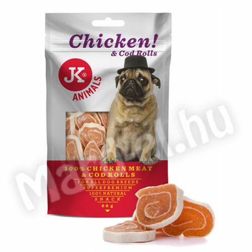 JK Snack csirke+tőkehal rolád kutyának 80g 44964