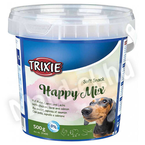 Trixie Jutalomfalat Happy Mix csirke-bárány-lazac 500g 31495